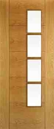 Iseo 4 Light White Oak Pre-Finished Internal Door