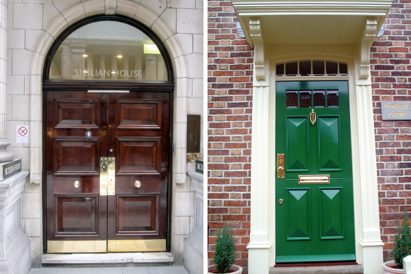 Georgian doors made in Nottingham & Old English Doors Contract House Daleside Road Nottingham ...