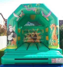 Jungle bouncy castle for hire carryduff