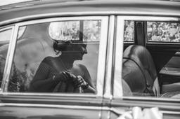 Nottinghamshire Wedding Photographer Kristy James Wedding In Misson Near Bawtry Car Reflection