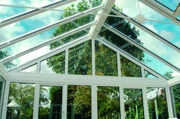 Conservatory glass roof with gable end