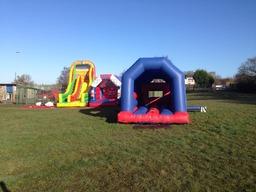 School Inflatable fun day, Merseyside