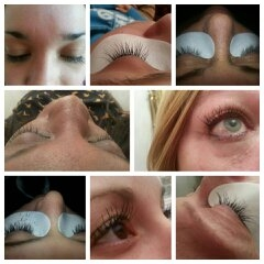 Semi-permanent eyelash extentions