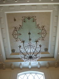 Design on two storey foyer ceiling