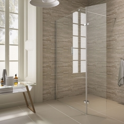 Roma Shower Screen With Hinged Panel