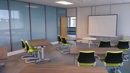 Auburn College third floor classroom