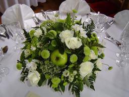 """Contemporary """"Apple"""" Table Arrangement"""