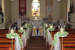 candle Aisle Arrangements