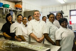 Photo of kitchen team for a clients website