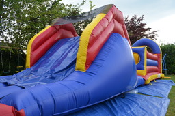 Obstacle course slide