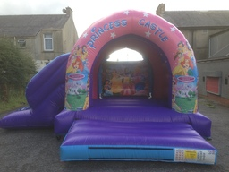 Large outdoor princess castle with slide