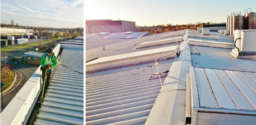 Commercial Gutter Cleaning Using Roof Cable Access