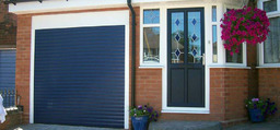 Slide roller garage door