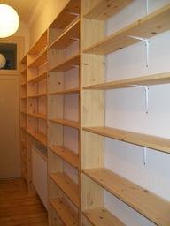 Hallway - shelving