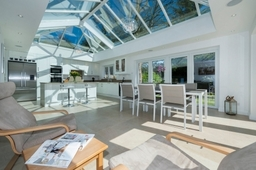 Modern Orangery Interior with Kitchen