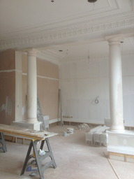 Plaster columns made and fitted by Halcyon cornice