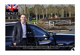 Executive taxi service in Farnborough, Dinez Taxis