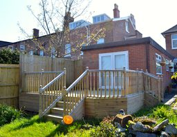 Decking with Stairs & Balustrade.