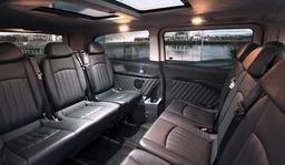 Mercedes Viano interior. Chauffeur in York