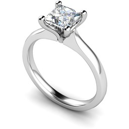 Four Claw Diamond Ring - Shining Diamonds