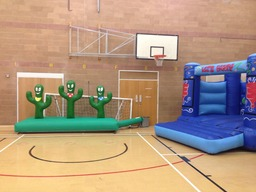 Wild West inflatable day for local Scout group