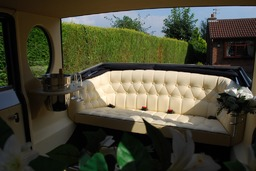 Hand stitched leather chesterfield seat