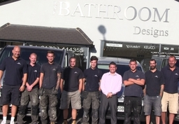 One of our install teams, outside our Showroom. A few apprentices and veterans can be seen in this one!