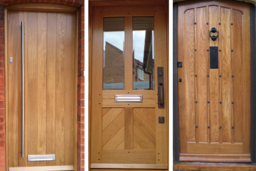 Wooden front doors made in Nottingham
