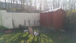 Back garden design before the job started by Aspec