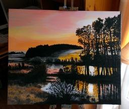 Sunset on Lindean Loch