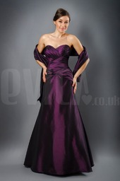 strapless-purple-sweetheart-bridesmaids-dress