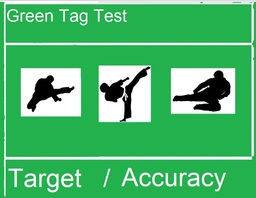 Green Tag for ACCURACY/TARGET