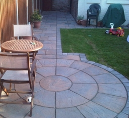 paving and landscaping project