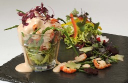Crayfish Cocktail on a bed of salad