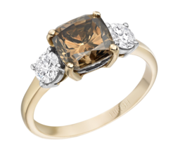 Cognac Diamond Trio Ring