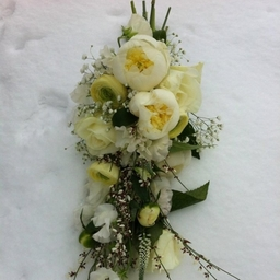 Hand tied showering Bridal Bouquet