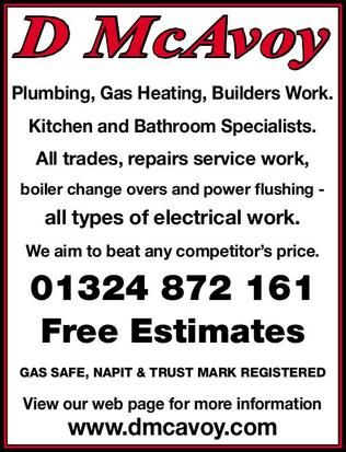 Details for derek mcavoy plumbing heating services in for J j bathrooms falkirk