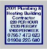 2001 Plumbing & Heating Building Contractor