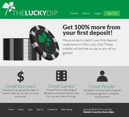 Website design for The Lucky Dip