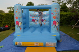 Small Blue Bouncy castle