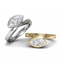 Infinity engagement rings with marquise diamonds