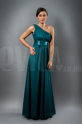 teal-one-shoulder-beaded-evening-long-dress