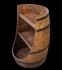 Wooden Display Barrels