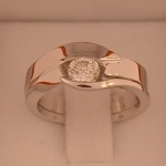 A Fitted shaped wedding ring and engagement ring , I handmake wedding rings to fit unusual shaped engagement rings