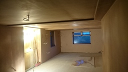 Room plastered out