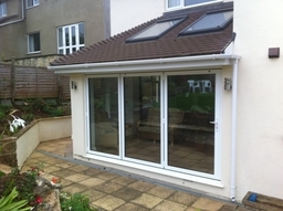 Bifolding doors from outside