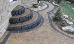 Block Paving with 3 Tiers of Steps