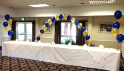 Top Table Arch And  5 BalloonTable Decorations at the Chichester Park Hotel