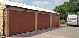 Slide roller garage doors