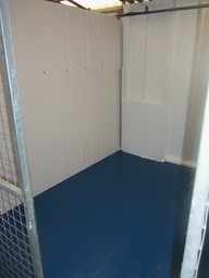 Inside One of our refurbished kennels